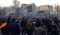 People protest in Tehran, Iran December 30, 2017 in this still image from a video obtained by REUTERS. THIS IMAGE HAS BEEN SUPPLIED BY A THIRD PARTY.
